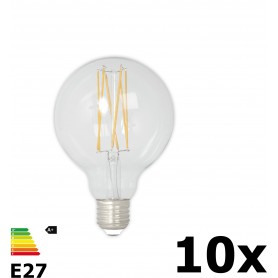 Calex - Vintage LED Lamp 240V 4W 350lm E27 GLB80 Clear 2300K Dimmable - Vintage Antique - CA074-10x www.NedRo.us