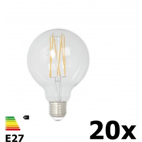 Calex - Vintage LED Lamp 240V 4W 350lm E27 GLB80 Clear 2300K Dimmable - Vintage Antique - CA074-20x www.NedRo.us