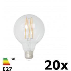 Calex - Vintage LED Lamp 240V 4W 350lm E27 GLB80 Helder 2300K Dimbaar - Vintage Antiek - CA074-20x www.NedRo.nl
