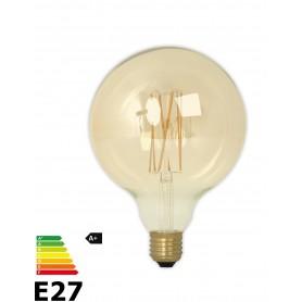 Calex, Vintage LED Lamp 240V 4W 320lm E27 GLB125 GOLD 2100K Dimbaar, Vintage Antiek, CA076-CB, EtronixCenter.com