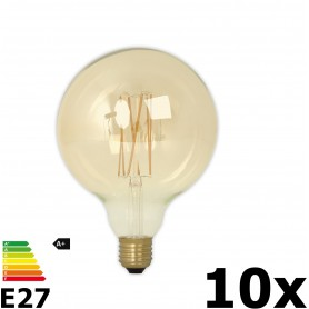 Calex - Vintage LED Lamp 240V 4W 320lm E27 GLB125 GOLD 2100K Dimmable - Vintage Antique - CA076-10x www.NedRo.us