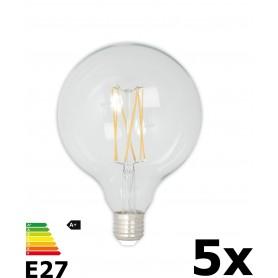 Calex - Vintage LED Lamp 240V 4W 350lm E27 GLB125 Helder 2300K Dimbaar - Vintage Antiek - CA077-5x www.NedRo.nl