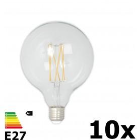 Calex - Vintage LED Lamp 240V 4W 350lm E27 GLB125 Helder 2300K Dimbaar - Vintage Antiek - CA077-10x www.NedRo.nl