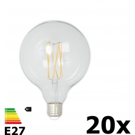 Calex - Vintage LED Lamp 240V 4W 350lm E27 GLB125 Clear 2300K Dimmable - Vintage Antique - CA077-20x www.NedRo.us