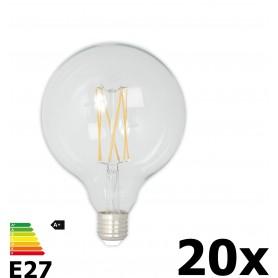 Calex - Vintage LED Lamp 240V 4W 350lm E27 GLB125 Helder 2300K Dimbaar - Vintage Antiek - CA077-20x www.NedRo.nl