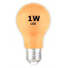 Calex, E27 1W Orange LED GLS-lamp A60 240V 12lm, E27 LED, CA033-CB, EtronixCenter.com