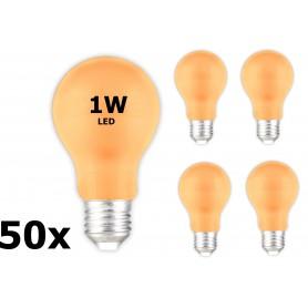 Calex - E27 1W Oranje LED A60 Normaallamp 240V 12lm - E27 LED - CA033-50x www.NedRo.nl