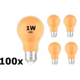 Calex - E27 1W Oranje LED A60 Normaallamp 240V 12lm - E27 LED - CA033-100x www.NedRo.nl