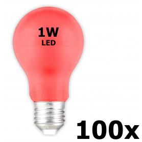 Calex - E27 1W Rood LED A60 Normaallamp 240V 12lm CA034 - E27 LED - CA034-100x www.NedRo.nl