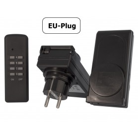 Calex - 2x Remote Controlled Switch Socket with remote for outdoor use - Plugs and Adapters - CA036 www.NedRo.us