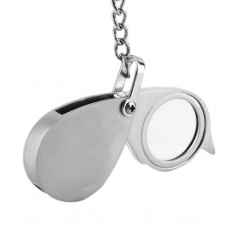 Oem - 8x-zoom keychain magnifying glass - Magnifiers microscopes - AL843