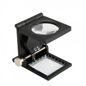 NedRo - 24mm Fold Texture Magnifier 10X Zoom Glass with LED and Scale - Magnifiers microscopes - TM33 www.NedRo.us