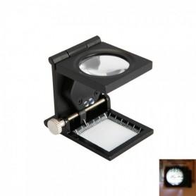NedRo - Opvouwbaar dradenteller loep 10X zoom met LED Licht - Loepen en Microscopen - TM33 www.NedRo.nl