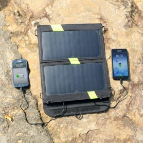 ALLPOWERS - 14W Portable Dual Output 1A 2A Sunpower Solar Panel Charger - Solar panels and wind turbines - AL841 www.NedRo.us