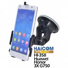 Haicom, Haicom klem autohouder voor Huawei Honor 3X G750 HI-358, Auto raamhouder, ON4503-SET, EtronixCenter.com
