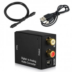 NedRo - Digital naar Analog Audio Converter box met USB voeding - Audio adapters - AL837 www.NedRo.nl