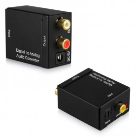 NedRo, Digital la Analog Audio Converter box cu sursa de alimentare USB, Adaptoare audio, AL837, EtronixCenter.com