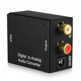 Oem - Digital to Analog Audio Converter box with USB power supply - Audio adapters - AL837
