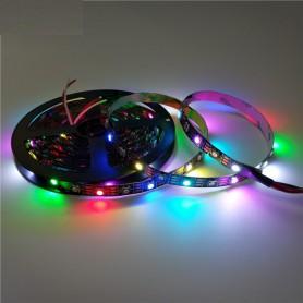 Unbranded, 5V 5 Metri WS2812B Digital RGB LED Strip 60 LED/m SMD5050, Benzi cu LED-uri, AL876, EtronixCenter.com