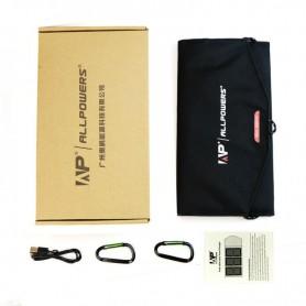 ALLPOWERS - 21W Draagbare Dual 5V 2.4A Output Zonnepaneel Lader - Zonnepanelen en Windturbines - AL834 www.NedRo.nl
