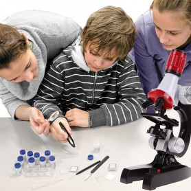 Unbranded - 100x-1200x Zoom Educational Microscope with LED Light - Magnifiers microscopes - AL832 www.NedRo.us