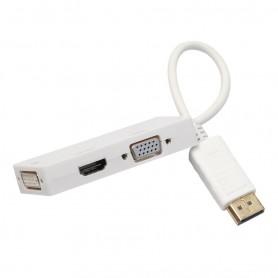 3in1 DisplayPort DP Male naar DVI, HDMI en VGA Female