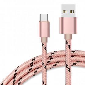 NedRo - USB Type C (USB-C) naar USB Metallic Hi-Q - USB naar USB C kabels - AL534-PI www.NedRo.nl