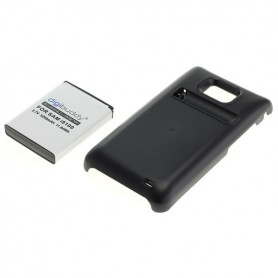Battery for Samsung Galaxy S2 i9100 increased capacity with backcover