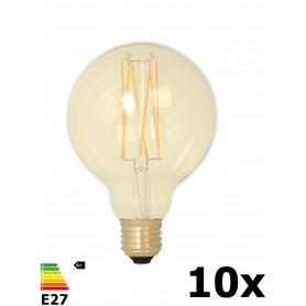 Calex - Vintage LED Lamp 240V 4W 320lm E27 GLB95 GOLD 2100K Dimbaar - Vintage Antiek - CA078-10x www.NedRo.nl