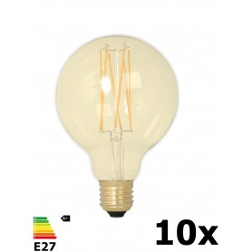 Calex - Vintage LED Lamp 240V 4W 320lm E27 GLB95 GOLD 2100K Dimmable - Vintage Antique - CA078-10x www.NedRo.us