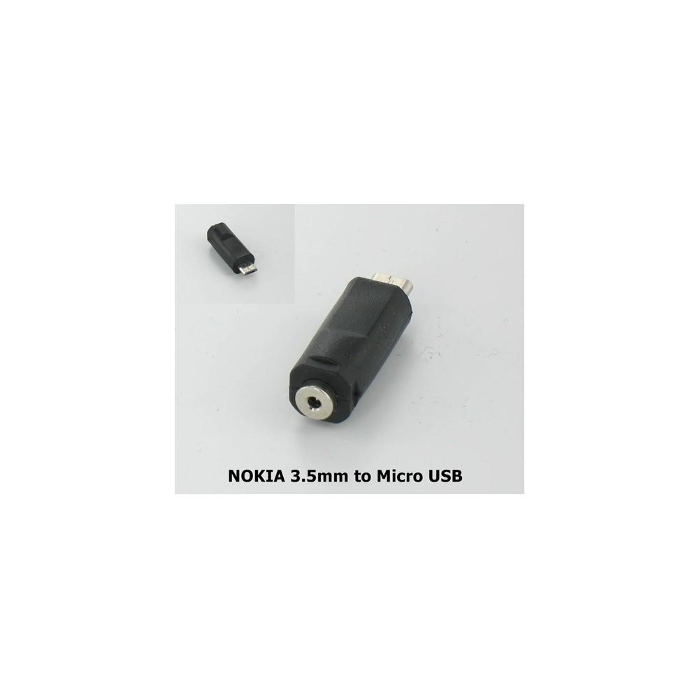 Nokia Omvormer 3.5mm naar Micro USB Oplader YMN014