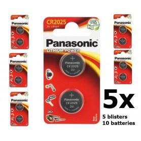 Blister (2x) Panasonic CR2025 Lithium knoopcelbatterij