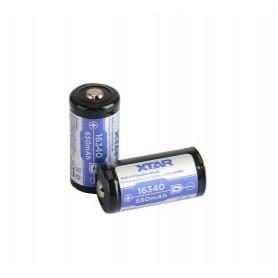 XTAR 16340 Li-ion 650mAh 3.6V - Protected