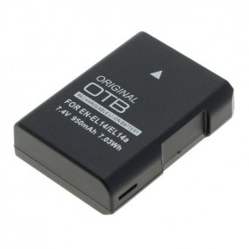 OTB - Battery for Nikon EN-EL14 / EN-EL14A Li-Ion LATEST VERSION 900mAh - Nikon photo-video batteries - ON4603 www.NedRo.us