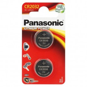Panasonic CR2032, DL2032 225mAh 3V lithium button cell battery (duo blister)