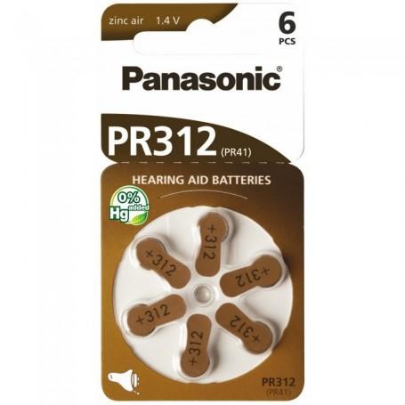 Panasonic 312 / PR312 / PR41 Gehoorapparaat batterijen