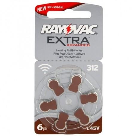 Rayovac - Rayovac Extra Advanced 312 / PR312 / PR41 Gehoorapparaat batterijen - Knoopcellen - BL248-C www.NedRo.nl