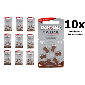 Rayovac - Rayovac Extra Advanced 312 / PR312 / PR41 Hearing Aid Battery - Button cells - BL248-CB www.NedRo.us