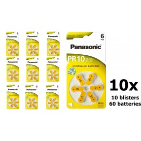 Panasonic - Panasonic 10 MF Hearing Aid Battery - Button cells - BL251-CB www.NedRo.us