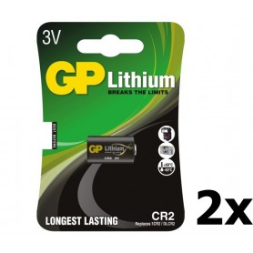 GP - GP CR2 DLCR2 EL1CR2 CR15H270 lithium battery - Other formats - BL179-2x www.NedRo.us