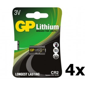 GP - GP CR2 DLCR2 EL1CR2 CR15H270 lithium battery - Other formats - BL179-4x www.NedRo.us