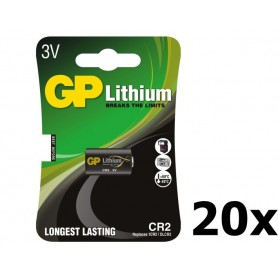 GP - GP CR2 DLCR2 EL1CR2 CR15H270 lithium battery - Other formats - BL179-20x www.NedRo.us