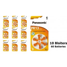 Panasonic - Panasonic 13 / PR13 / PR48 Hearing Aid Battery - Button cells - BL254-CB www.NedRo.us