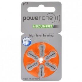 Varta - Power One de Varta 13 / PR48 / P13 Baterie pentru auditive 1.45 V - fără mercur - Baterii plate - BS087-CB www.NedRo.ro