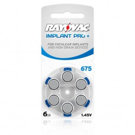 Rayovac, Rayovac 675 IMPLANT PRO+ Hearing Aid Battery, Button cells, BL256-CB, EtronixCenter.com