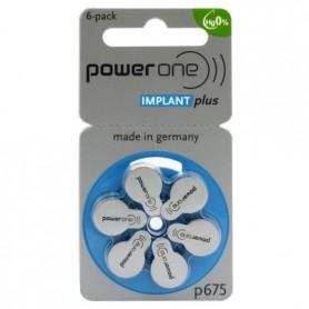 Power One 675 IMPLANT Gehoorapparaat batterijen