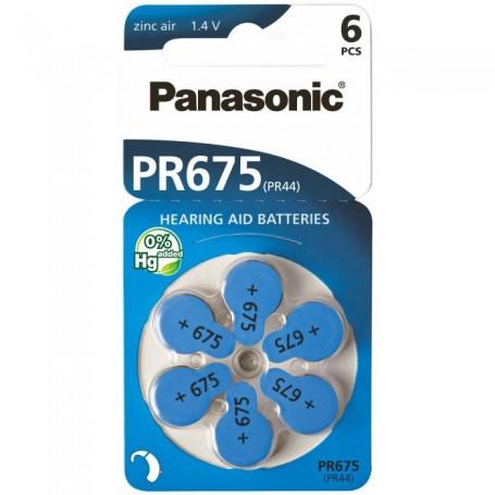 Panasonic - Panasonic 675 / PR675 / PR44 Gehoorapparaat batterijen - Knoopcellen - BL260-C www.NedRo.nl