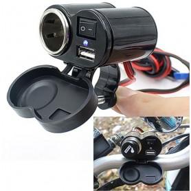 NedRo, Încărcător USB brichetă pentru Biciclete Motorciclete, Încărcător auto, AL594, EtronixCenter.com