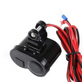 NedRo, Motorcycle Bike USB Cigarette Lighter Charger, Auto charger, AL594, EtronixCenter.com
