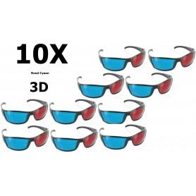 NedRo - Rood Cyaan 3D Bril Zwart YOO038 - TV accessoires - YOO038-10x www.NedRo.nl